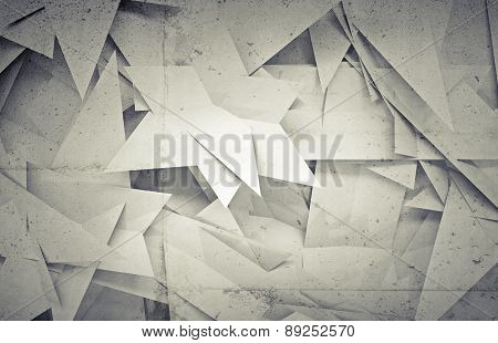 3D Background With Chaotic Triangle Polygons