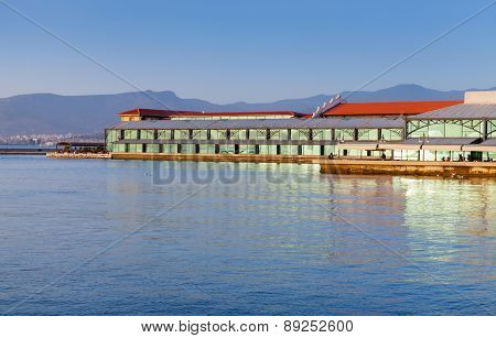 Modern Konak Pier Buildings. Izmir City, Turkey
