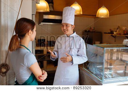 Talking employees