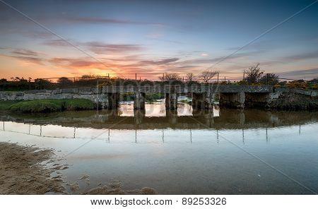 Sunset Over Deford Bridge