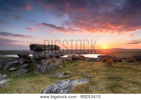 Sunset Over Siblyback Lake