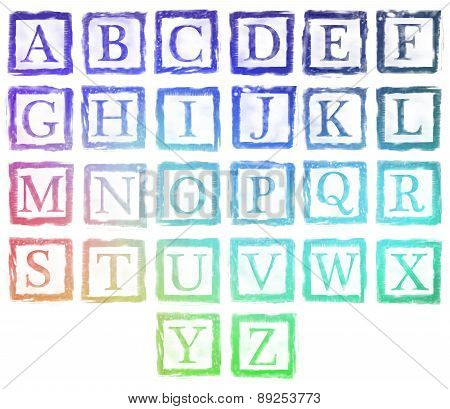 Alphabet Metal Stamp Letters Colorful