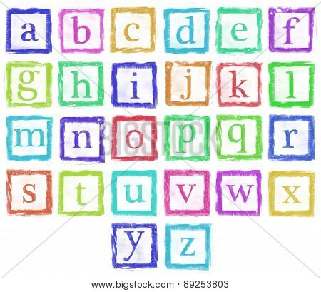 Alphabet Metal Stamp Small Letters Single Color