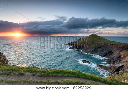 Stormy Sunset Over The Rumps