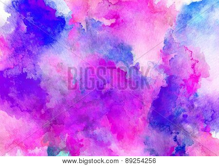 Ink Puprle Watercolor Full Background