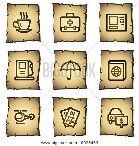 Travel Web Icons Papyrus Series