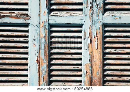 Old distressed window shutters