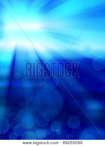 Blue Abstract Background With White Spot Light