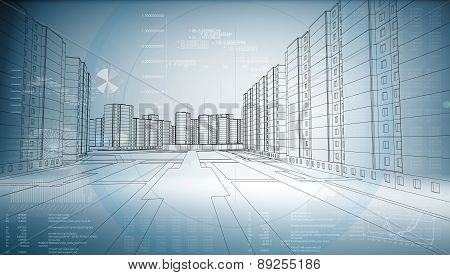 Graphics of the business city
