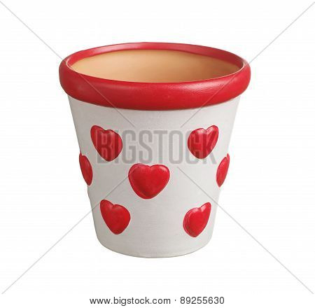Flower Pot With Hearts