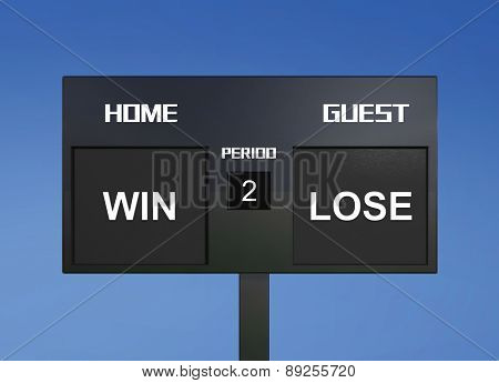 Win Lose Scoreboard