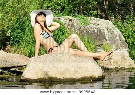 Girl On River