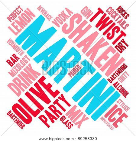 Martini Word Cloud