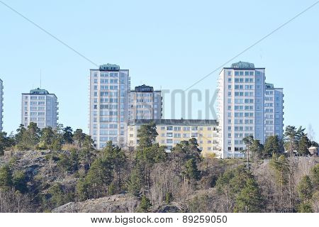 Modern Residential Area, Outskirts Of Stockholm.