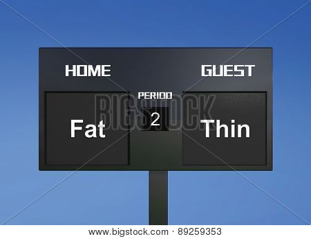 Fat Thin Scoreboard