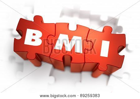 BMI - White Abbreviation on Red Puzzles.