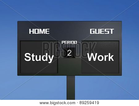 Study Or Work Scoreboard