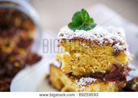 Sweet Honey Cake With Nuts