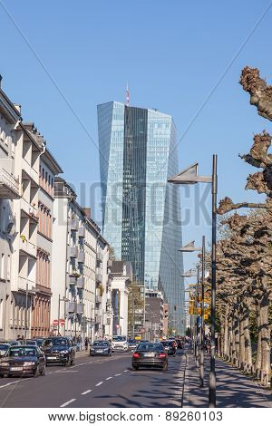 City Street in Frankfurt Main, Germany