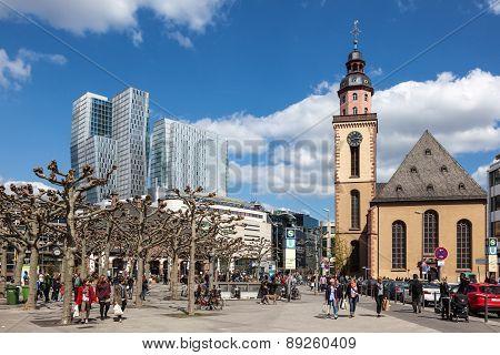 The Hauptwache In Frankfurt Main