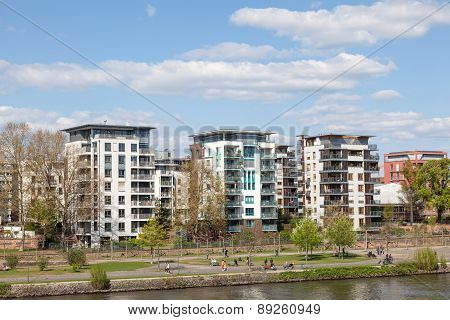 Residential Buildings In Frankfurt Main