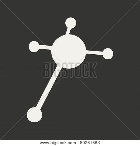 Flat in black and white mobile application molecule