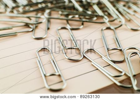 Paper Clip And Pink Paper
