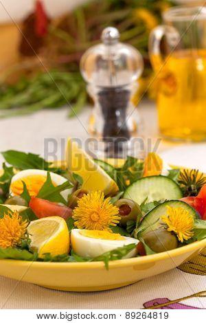 Dandelion spring salad