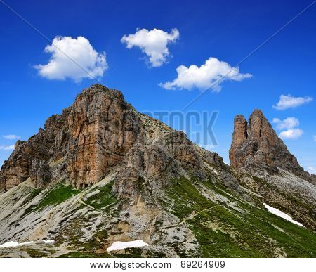 Mountain landscape - Sexten Dolomites, South Tyrol, Italy