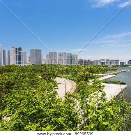 green of city at shanghai china.