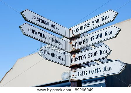 Road Sign , Utah Beach, France,