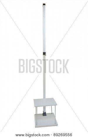 Stadiometer isolated on white background