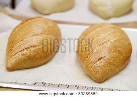 Fresh bread in the bakery