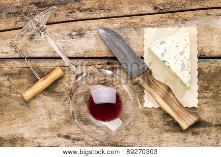 Wine And Cheese Set Background