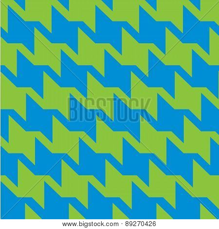 Houndstooth in Blue and Green