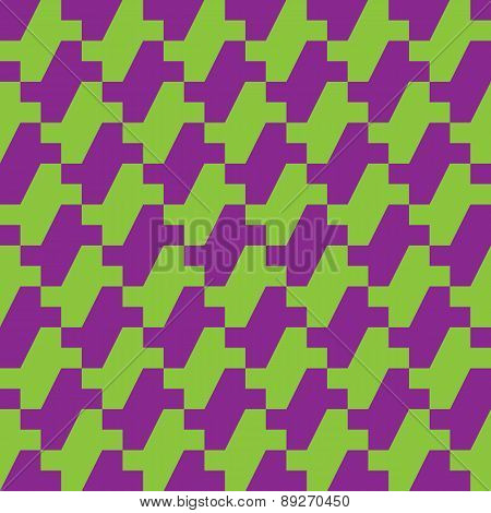 Houndstooth in Purple and Green