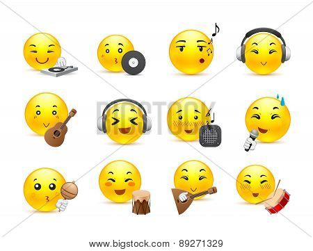 Anime Smilies Musical Instruments