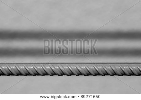 Rod Of Fittings On A Gray Background
