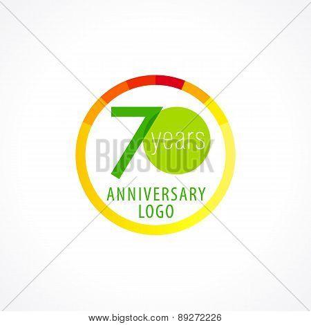 70 anniversary circle logo