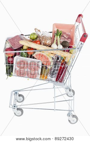 Shopping Cart Full On Food
