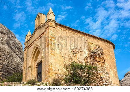 Chapel of Sant Joan in Montserrat mountains