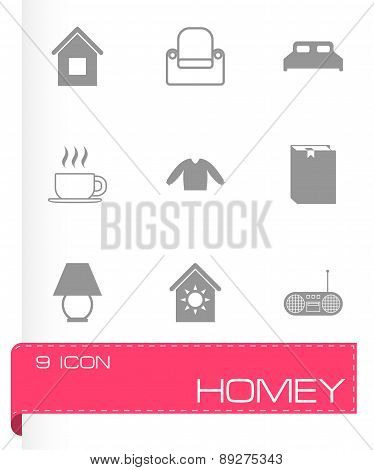 Vector homey icon set