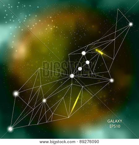 Connected Network abstract galaxy background