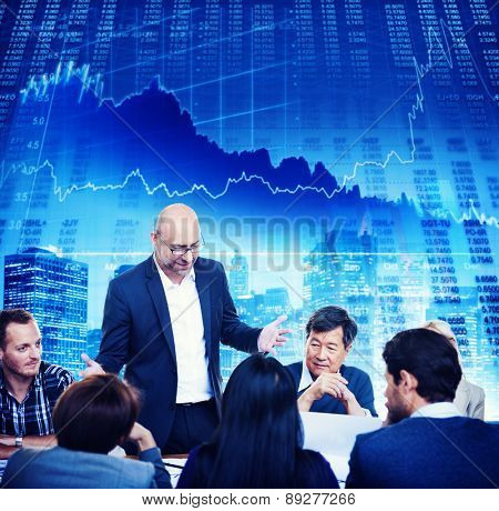 Business Team Discussion Stock Exchange Investment Concept