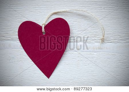 Red Heart Label With Copy Space Frame