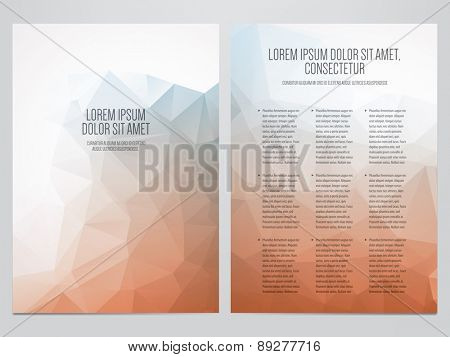 vector business brochure, flyer template, modern polygonal design