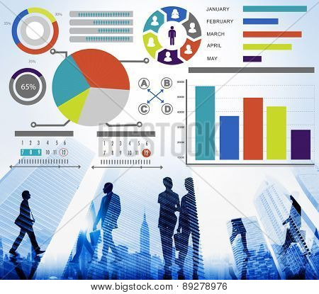 Bar Graph Chart Data Information Inforgraphic Report Concept