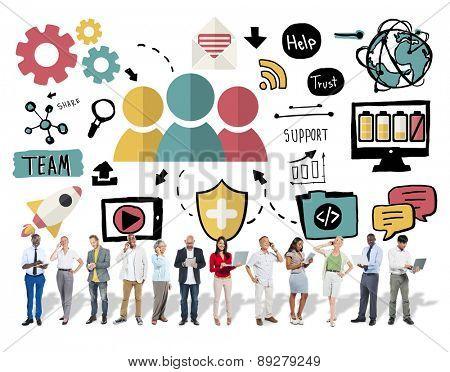 Team Share Support Trust Help Teamwork Togetherness Concept
