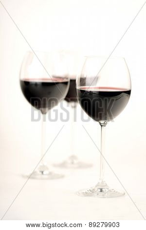 Close up of glas with red wine