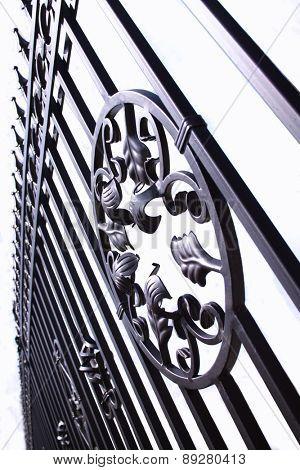 Metal fence - close-up